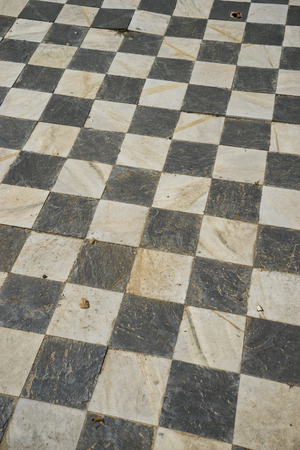 old square: square, gamero textured floor or chess, nineteenth century, grungy texture and old Stock Photo