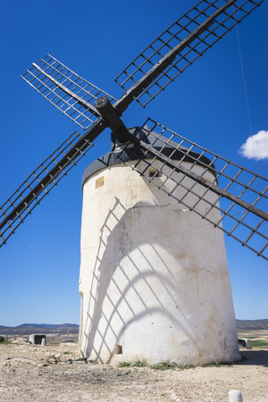 castile: cereal mills mythical Castile in Spain, Don Quixote, Castilian landscape with very old architecture