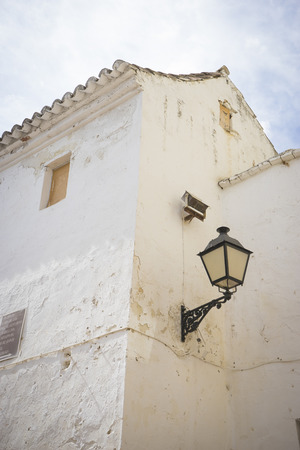 spanish architecture: spanish, architecture and streets of white flowers in Marbella Andalucia Spain