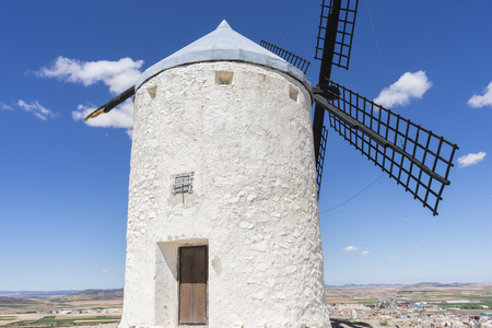 don quijote: windmills of Consuegra in Toledo, Spain. They served to grind grain crop fields