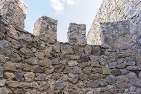 don quijote: almenas, la fortaleza y el castillo de Consuegra, en Toledo, España. fortificación medieval Foto de archivo