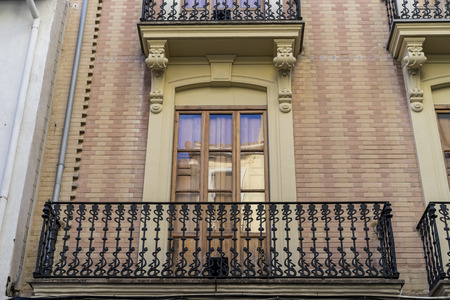 valencian: Traditional architecture of the center of the Spanish city of Castellon, Valencian Community