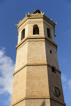 valencian: Tower, Traditional architecture of the center of the Spanish city of Castellon, Valencian Community