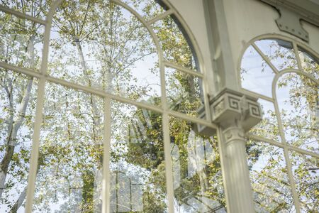 parque del buen retiro: Glass palace of madrid in the garden of the retreat, spain