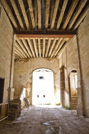 Real Fábrica de Paños. It was founded in 1750 by King Ferdinand VI. Brihuega, Spain Stock Photo