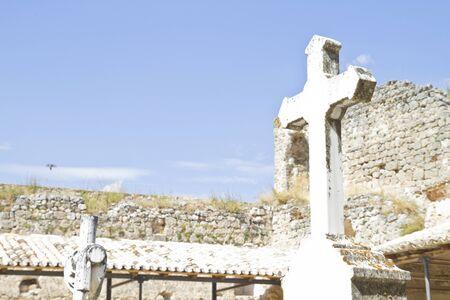 Eighteenth Century Cemetery, Brihuega, Spain Stock Photo