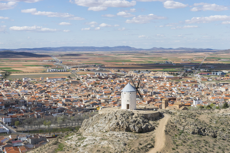Mill, Town of Consuegra in the province of Toledo, Spain