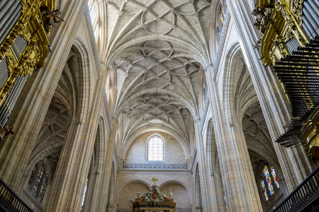 Gothic Arches Of Christian Church Interior City Segovia Stock Photo Picture And Royalty Free Image 71525133