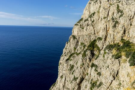 vedra: Formentor by the Mediterranean sea on the island of Ibiza in Spain, holiday and summer scene