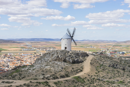 don quijote: Town of Consuegra in the province of Toledo, Spain