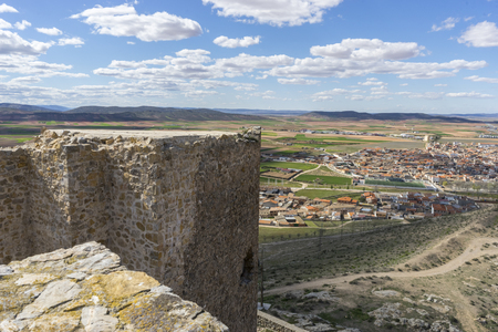 toledo town: Ancient and majestic medieval castle. Town of Consuegra in the province of Toledo, Spain