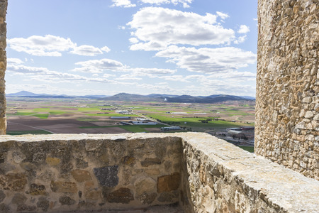 Interior of the medieval castle of the city of Consuegra in Toledo, Spain Stock Photo