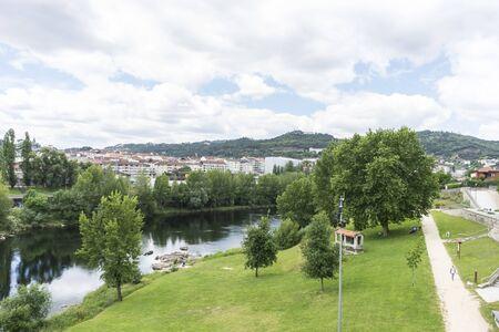Mi?o river passing through Orense Roman city located in Galicia. Spain Zdjęcie Seryjne
