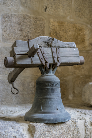 Sound, church bell inside the Cathedral of Ourense in Spain. Gothic style