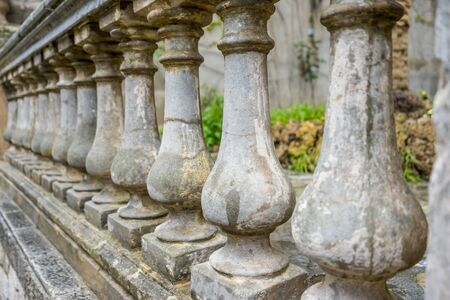 Old stone railing in the city of Valldemossa in the Balearic Islands Spain Stock Photo