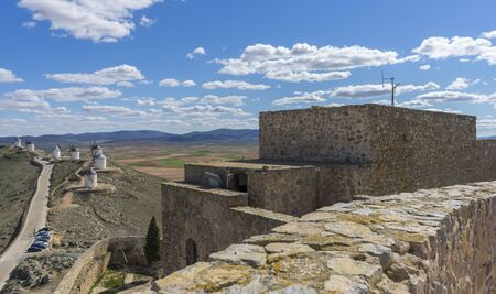 Summer tourism, Town of Consuegra in the province of Toledo, Spain Stock Photo