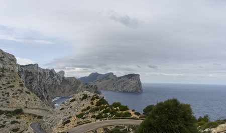 Coast, Cape Formentor in Mallorca island, Spain Stock Photo