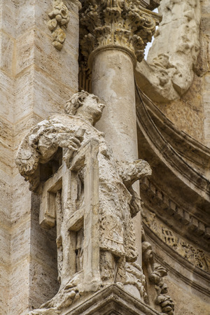 ornaments and sculptures of Gothic style, Spanish Ancient Art Stock Photo