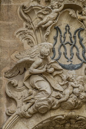 Angels, ornaments and sculptures of Gothic style, Spanish Ancient Art