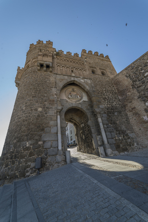 Heritage, Toledo, gate of Puerta del Sol (The sun door) Spain.
