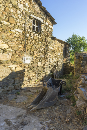 reconstruction of old stone houses for repopulation of ancient villages in the province of Zamora in Spain 写真素材