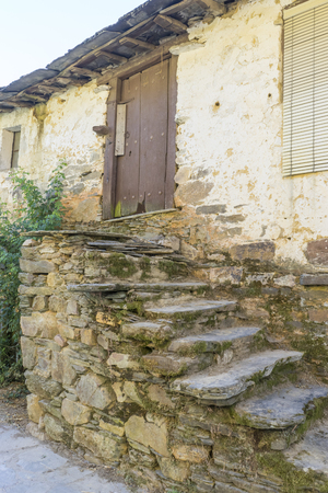 reconstruction of old stone houses for repopulation of ancient villages in the province of Zamora in Spain Фото со стока