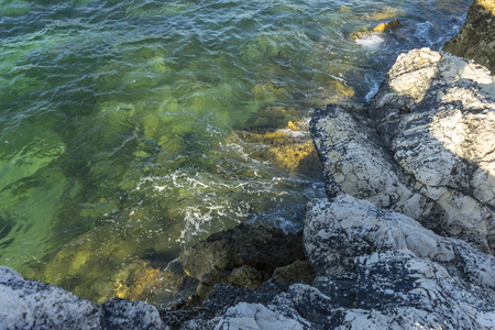 Sea, Broken coast (Costa quebrada) at Playa de San Juan de la Canal, Soto de la Marina, Spain