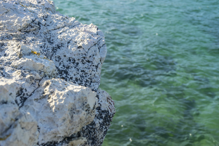 Green Sea, Broken coast (Costa quebrada) at Playa de San Juan de la Canal, Soto de la Marina, Spain