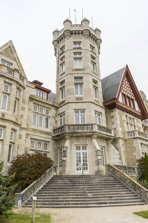 Palacio de la Magdalena in the city of Santander, north of Spain. Building of eclectic architecture and English influence next to the Cantabrian Sea
