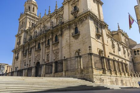 Main facade of the Cathedral of Jaen in Andalucia, Spain