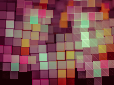 Geometric Creative background with colored squares as a mosaic, decorative image for advertising or designs Standard-Bild