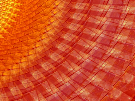 Decorative, Creative background with powerful and bright abstract sun, waves and sinuous shapes, decorative image for advertising or designs