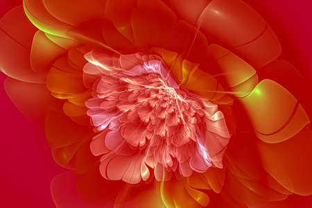 Garden, Creative background with large petal flower, decorative image for advertising or designs