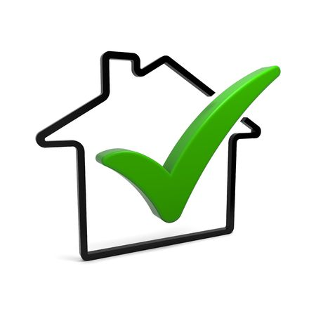 House symbol with green check mark photo