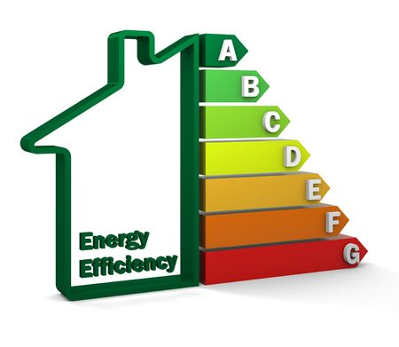 rated: Energy Efficiency Rating Stock Photo