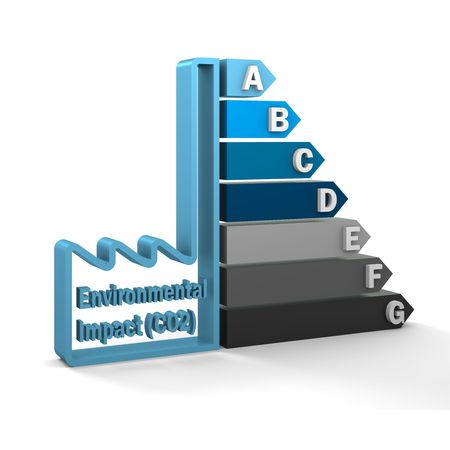 Industry CO2 emission rating certification system. Part of a series Stock Photo - 6203155