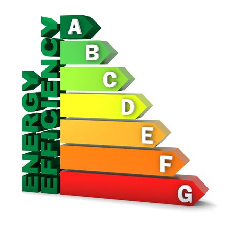 Energy efficiency rating certification system. Part of a series. Stock Photo - 6203153