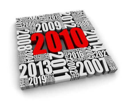 New year 2010 and the years ahead. Part of a series. Stock Photo - 6879053