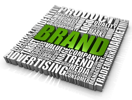 advertising logo: Group of Brand related words. Part of a series of business concepts.