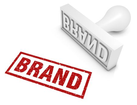 brand identity: Brand rubber stamp. Part of a series of business concepts. Stock Photo