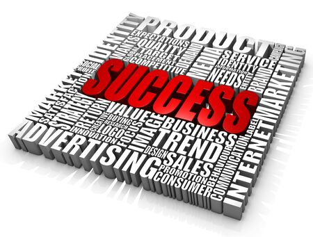 Group of success related words. Part of a series of business concepts. Stock Photo - 7447046