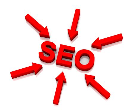 Arrows pointing towards SEO (Search Engine Optimization). Stock Photo - 7578590