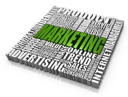 Group of marketing related words. Part of a series of business concepts. Stock Photo - 7604839
