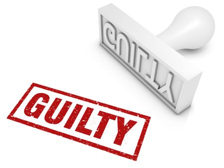 Guilty rubber stamp. Part of a series of stamp concepts. Stock Photo - 7677547