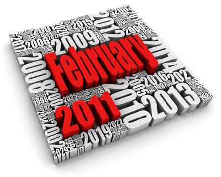 3D text with month surrounded by years. Part of a series of calendar concepts. Stock Photo - 7818935