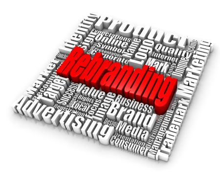 Rebranding related words. Part of a series of business concepts. Stock Photo
