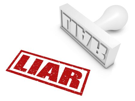 Liar rubber stamp. Part of a series of stamp concepts. Stock Photo - 7970562