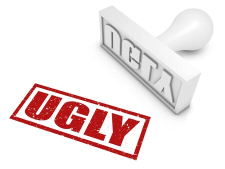 UGLY rubber stamp. Part of a series of stamp concepts. Stock Photo - 8128406