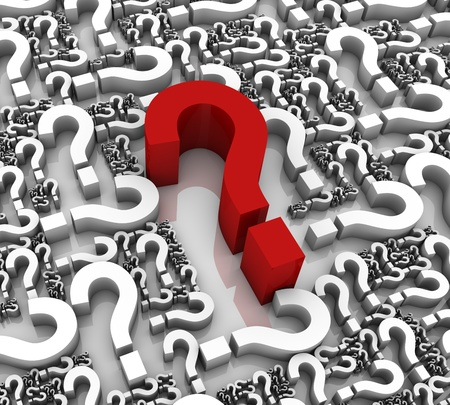 Group of question mark symbols. Part of a series. Stock Photo - 9262500