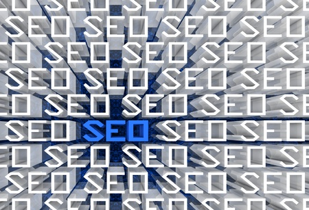 SEO text sequence in perspective view. Part of a series. Stock Photo - 9569706